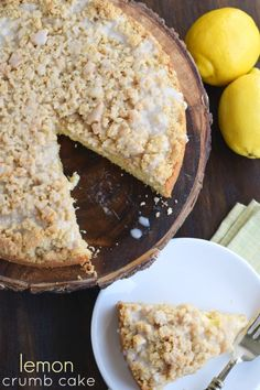 Lemon Crumb Cake wit