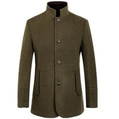 38e5177fbef 2016 new arrival autumn and winter style dress fashion slim mandarin collar  wool coat jacket overcoat large size Price history.
