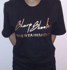 Sharp Shooter Entertainment / @M1zZHAZE Black & Gold T-Shirts – Available in sizes S M L XL XXL