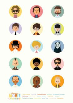Awesome Movie Characters - Illustrated by Rafael Lima