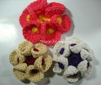 Tina's handicraft : How to make a 3d crochet flowers.
