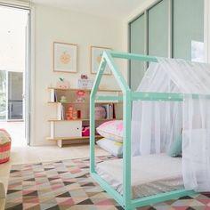design lit maison avec matelas pour les filles pinterest lights room and kids rooms