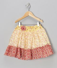 Take a look at this Bright Yellow Addie Skirt - Infant & Toddler on zulily today!