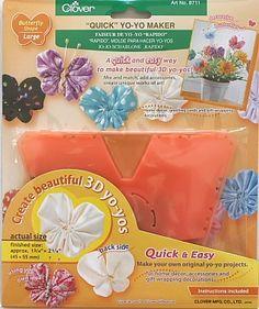 Clover Jo-Jo-Schablone 'Rapido' - Schmetterling - groß - 45 mm x 55 mm Clovers Jo-Jo-Schablone 'Rapido' ermöglicht Ihnen das Anfertigen eines wunderschönen Schmetterlings - Die Anleitung in der Verpackung enthält detaillierte Anweisungen dv-0006a-8711-5050g