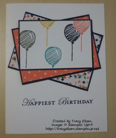 Birthday card created by Tracy Elsom. http://tracyelsom.stampinup.net