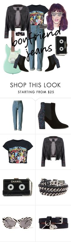 """Boyfriend jeans #rock"" by joziee ❤ liked on Polyvore featuring Dune, Lea Lov, Chanel, Cheap Monday and Alexander McQueen"