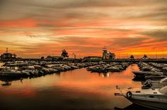 Pôr-do-Sol na marina de Faro  José Covas