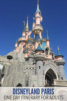Disneyland Paris adult itinerary - follow this plan to experience the highlights of both parks (Disneyland and Walt Disney Studios) in one day. The post also includes time and money saving tips to make the most of your stay.