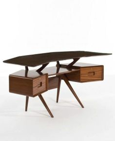 I'm in serious furniture love with this Silvio Cavatorta; Office Desk, 1952.