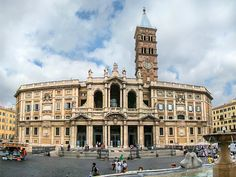 The Basilica of Santa Maria Maggiore in Rome, Italy