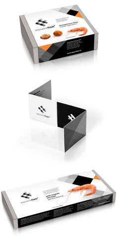 Square Fish frozen seafood packaging by mousegraphics / sea food / graphic design packaging