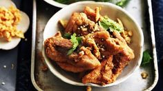 Neil Perry's deep-fried chicken with garlic and peppercorns.