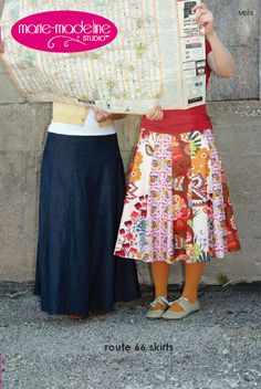 I saw a lady wearing a skirt made from this pattern a few weeks ago. Loved how it flowed and laid without being too much fabric everywhere.