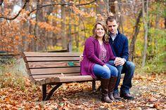 © Nicole Dixon Photographic Columbus Ohio Outdoor Engagement Session Autumn Fall Leaves
