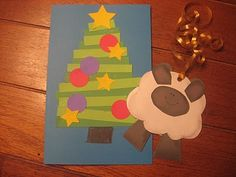 2 Christmas paper piecing crafts I did with Activity Day Girls and my daughters 2nd grade class.