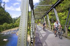 Pedal across bridges, through railway tunnels and past breathtaking woodlands along New Zealand's Karangahake Gorge. Image by Andrew Bain / Lonely Planet Images / Getty Images Heritage Train, New Zealand Mountains, Marlborough Sounds, New Zealand North, Cycle Ride, Best Track, Easy Day, Bike Trails, Go Outside