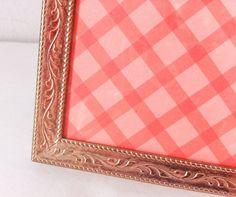 Vintage Gold Picture Frame Metal Frame Filigree by RetroTiles centerpiece number 5x7 Frames, Gold Picture Frames, Table Top Display, A Hook, Filigree Design, Art Pictures, Centerpiece, Number, Retro