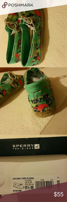 Brand new Sperrys flamingo espadrilles Flamingo spadrilles so cute. I originally paid 95 for these. If any questions feel free to ask Sperry Shoes Espadrilles