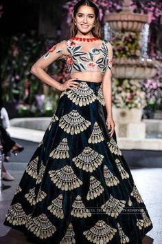 Shraddha Kapoor walks the ramp for Manish Malhotra on Day 2 of the Lakme Fashion Week Winter/Festive 2016 held in Mumbai.