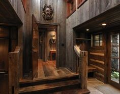 eclectic entry by Lake Country Builders