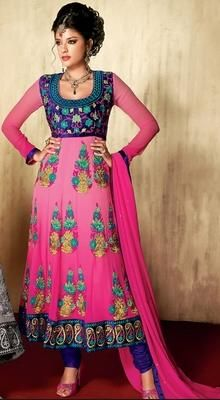 Vivacious Deep Pink Chudidar Kameez