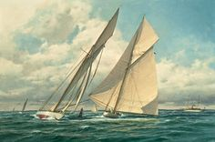 "The Paintings of Donald Demers ""At the Windward Turn"" 24x36 oil. Don Demers is a master at painting water..."
