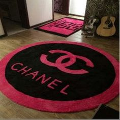 A Personal Favorite From My Etsy Https Www Chanel Pinkblack Ruground Rugsroundingetsy Circular