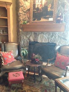 Superior Leather Chairs; Needlepoint Foot Stool; Large Framed Art New Divide U0026  Conquer Sale Starting