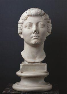 Portrait of Livia. The reign of Augustus BCE — 14 CE). Pesaro, Museums of Olivieri. Ancient Art, Reign, Portraits, Statue, Museum, Sculptures, Old Art, Royalty, Portrait Paintings