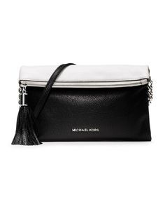 Simple black and white cross body