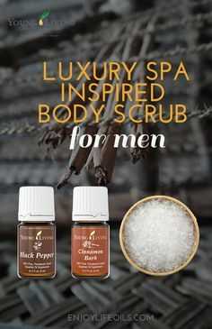Essential oils are for men too! Even luxury spas like the W Spa Resort in Bali offer special spa packages for men. This energizing facial and body scrub recipe is our variation for the treatment at The Ws AWAY spa. Made with Young Living essential oils. Essential Oil For Men, Oils For Men, Young Living Essential Oils, Body Scrub Recipe, Diy Body Scrub, Diy Projects For Men, Craft Projects, Oil For Dry Skin, Manicure Y Pedicure