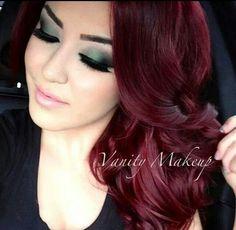 Beautiful dark red hair
