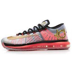 d5618a14add4 Nike KD VI Elite Basketball Shoe - White Metallic Gold Pure Platinum Black