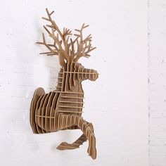 iWood Running Deer wall animal head wall sculpture, Guangzhou iWood Crafts Co., Limited on Alibaba.com