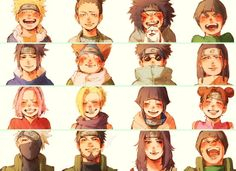 The teams we all loved back in the day :') #naruto