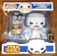 SDCC 2014 FUNKO POP STAR WARS HOTH LUKE SKYWALKER & WAMPA EXCLUSIVE 2 PACK RARE in Collectibles, Pinbacks, Bobbles, Lunchboxes, Bobbleheads, Nodders | eBay