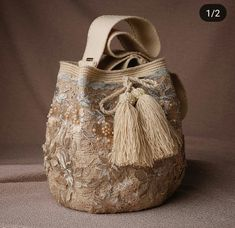"""New Cheap Bags. The location where building and construction meets style, beaded crochet is the act of using beads to decorate crocheted products. """"Crochet"""" is derived fro Drawing Bag, Bridesmaid Bags, Potli Bags, Embroidery Bags, Diy Handbag, Wedding Bag, Quilted Bag, Cheap Bags, Girls Bags"""