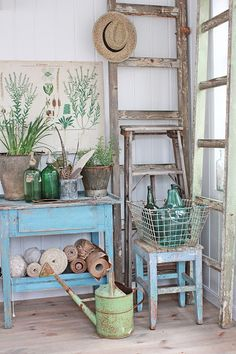 Vintage Greens & Blues: ready for spring!