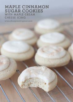 Soft Maple Cinnamon Sugar Cookie with Cream Cheese Maple Glaze