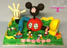 3D Mickey Mouse Clubhouse birthday cake