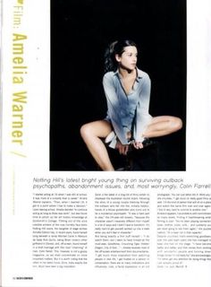 Amelia Warner. Dazed and Confused Magazine article