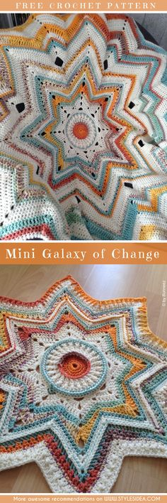 Mini Galaxy of Change Crochet Baby Blanket – Free Pattern | DIY