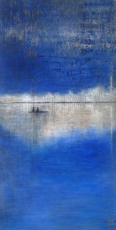 Une nuit 2011 acrylique sur bois 80 x 40 - Saya Becuwe