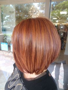 """A red that is not too """"red""""with warm copper golden highlights. Summer Perfection. GOLDWELL Color Hair color and style by David Frohmberg, Salon Tease"""