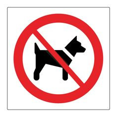Hunder forbudt - Kjøp Forbudsskilt her