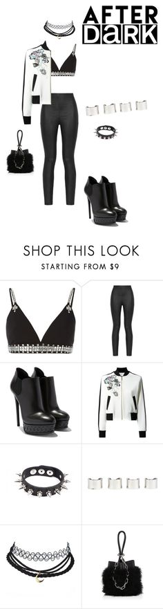 """""""After Dark"""" by dazzlers ❤ liked on Polyvore featuring Givenchy, Armani Jeans, Elie Saab, Apex, Maison Margiela and Alexander Wang"""