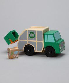 Melissa and Doug recycling truck.