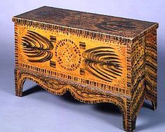 American paint decorated blanket chest Circa 1830..