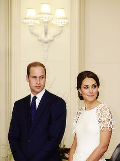 William and Catherine... so cute they are kind of making the same face