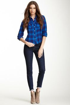 J Brand Aoki Tulum Brand Mid-Rise Skinny Jean by Non Specific on @HauteLook